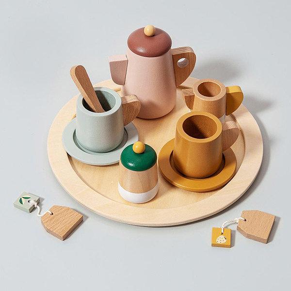 cadeau dreumes, dreumesspeelgoed, kind 18 maand, speelgoed kind 18 maand, thee servies, houten speelgoed