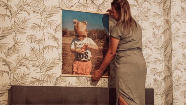 beste canvas, retro canvas, foto van je kind aan de muur